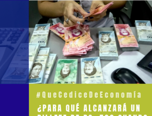#QueCediceDeEconomía 24 | ¿Para qué alcanzará un billete de Bs. 500?