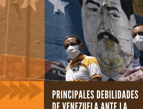 Principales debilidades de Venezuela ante la llegada de COVID-19
