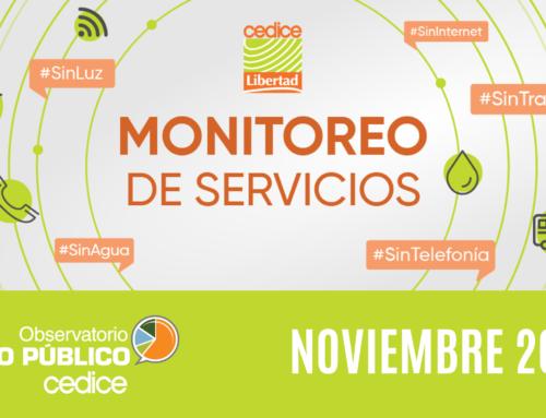 Monitoreo de Servicios Públicos en Venezuela (Noviembre 2020)