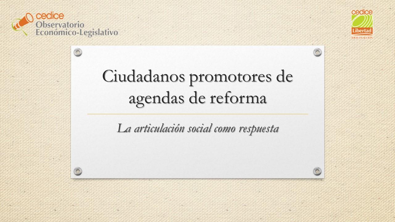 Ciudadanos promotores de agendas de reforma