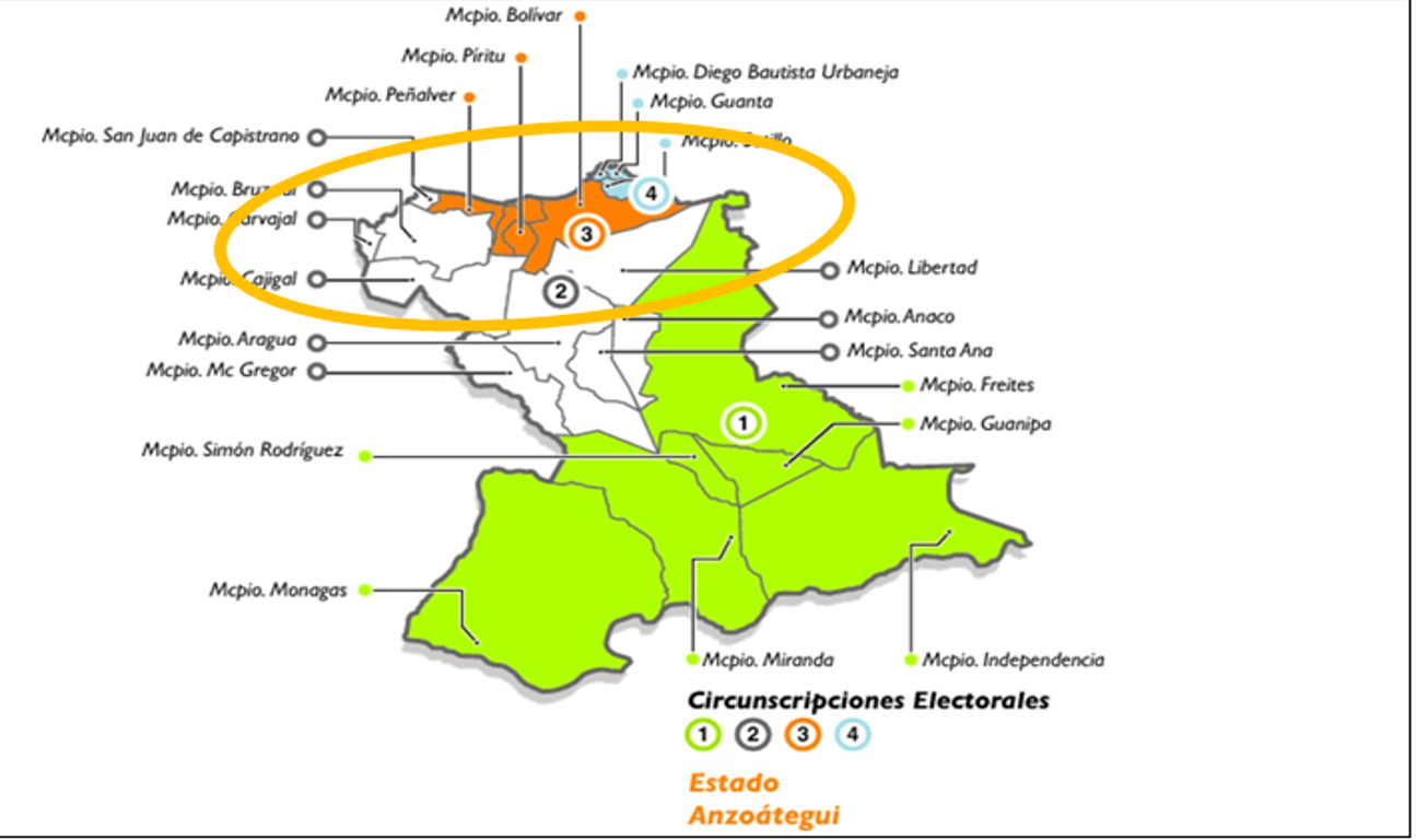 Mapa anzoategui